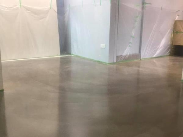 卡多泥創意地坪-005混色拉花地坪,瓷磚面施作效果