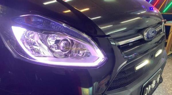 原廠魚眼滷素燈換合法LED魚眼一體式+專用解碼器+光導日行燈