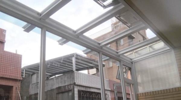 H型鋁鋼構採光罩-遮雨棚