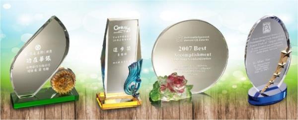水晶琉璃獎盃獎牌,代表著更上一層的肯定意義