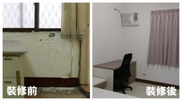 高雄宿舍翻修-壁癌處理,重新上漆