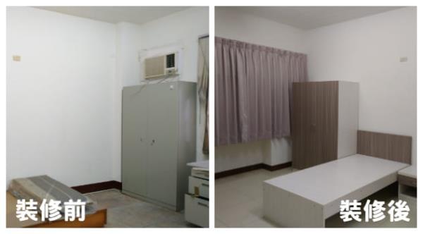 高雄宿舍翻修-地板翻新,家具寢具換新