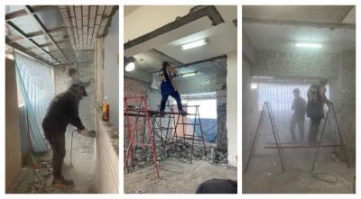 【台北拆除工程】全室鋁窗拆除-磚牆打除-牆面地面見底|建成拆除工程