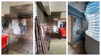 【台北裝潢拆除工程】全室天花板拆除、隔間磚牆打除、牆面地面見底|建成拆除達人